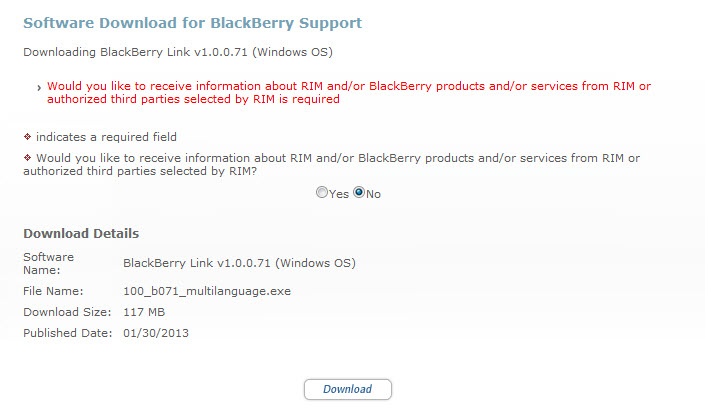 download blackberry link for bb q10