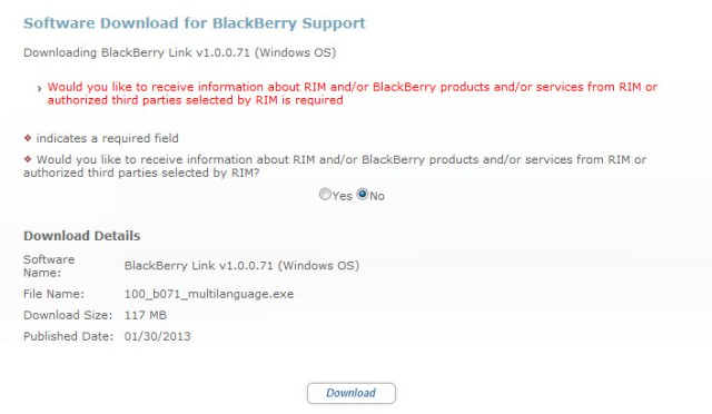 BlackBerry Link download