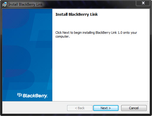 BlackBerry Link Install