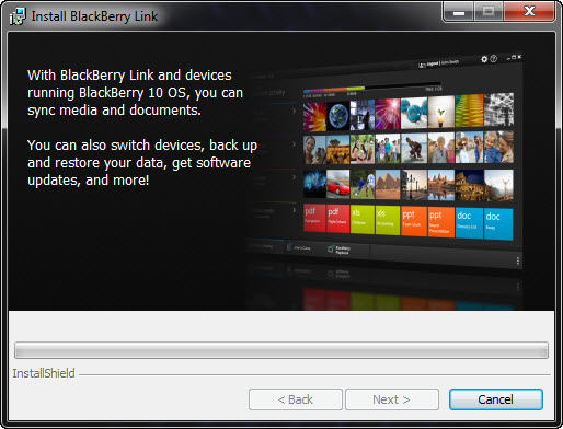 Install BlackBerry Link