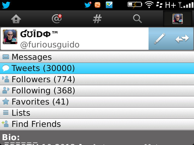 Twitter for BlackBerry 30K milestone