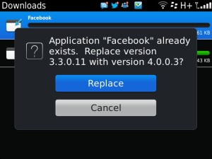 Facebook for BlackBerry 3.3.0.11 to 4.0.0.3