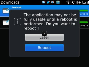 Facebook for BlackBerry Reboot