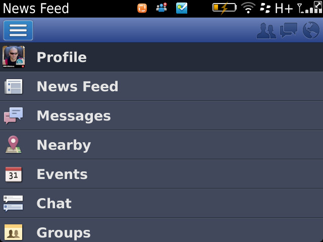 Facebook for BlackBerry 4.0.0.3