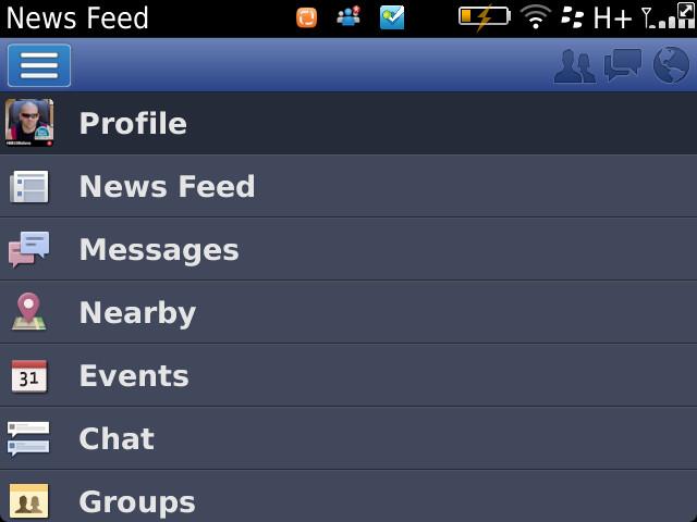 Facebook for BlackBerry 4.0.0.3