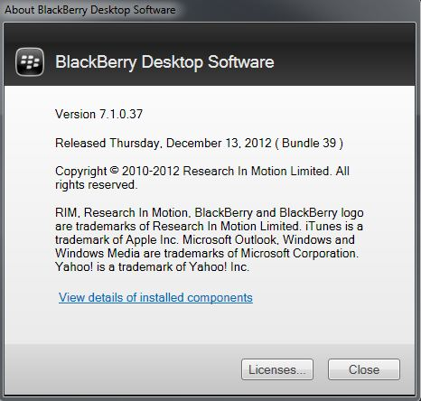 About BlackBerry Desktop Software