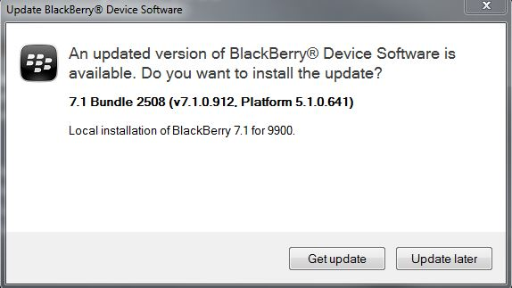Official OS7 1 0 912 for the BlackBerry Bold 9900 via T