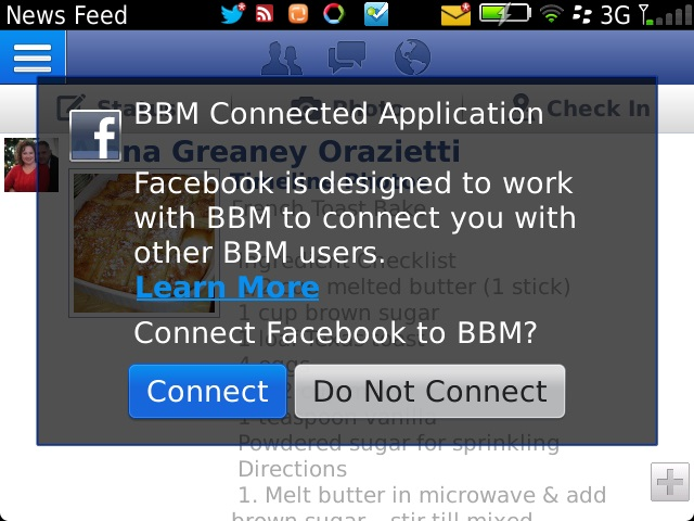 Facebook for BB 4.0