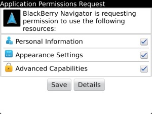 Applications Permission Request