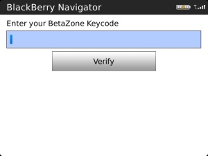 Navigator Beta Zone Keycode Required