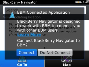 BB Navigator BBM Connected Application