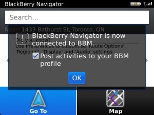 BB Navigator is now connected to BBM