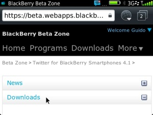 Twitter for BB 4.1.0.12 download