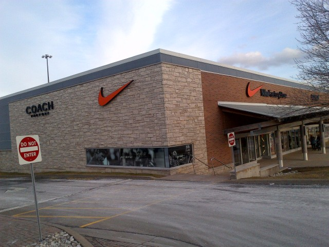 Nike store at Canada Factory Outlets