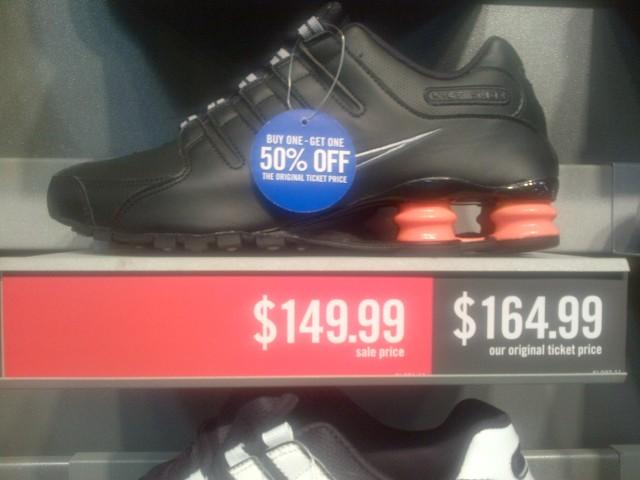 Nike Shox NZ blk/org