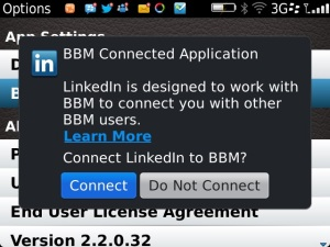 LinkedIn BBM Connected