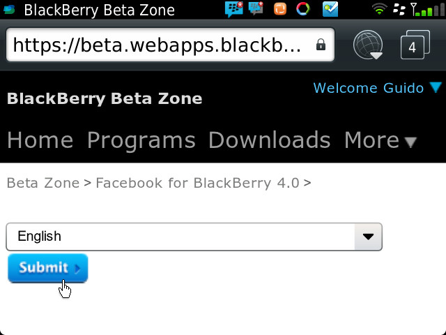 Facebook for BB 4.0.0.12