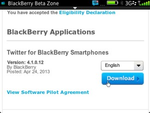 Twitter for BB 4.1.0.12 Download & Install