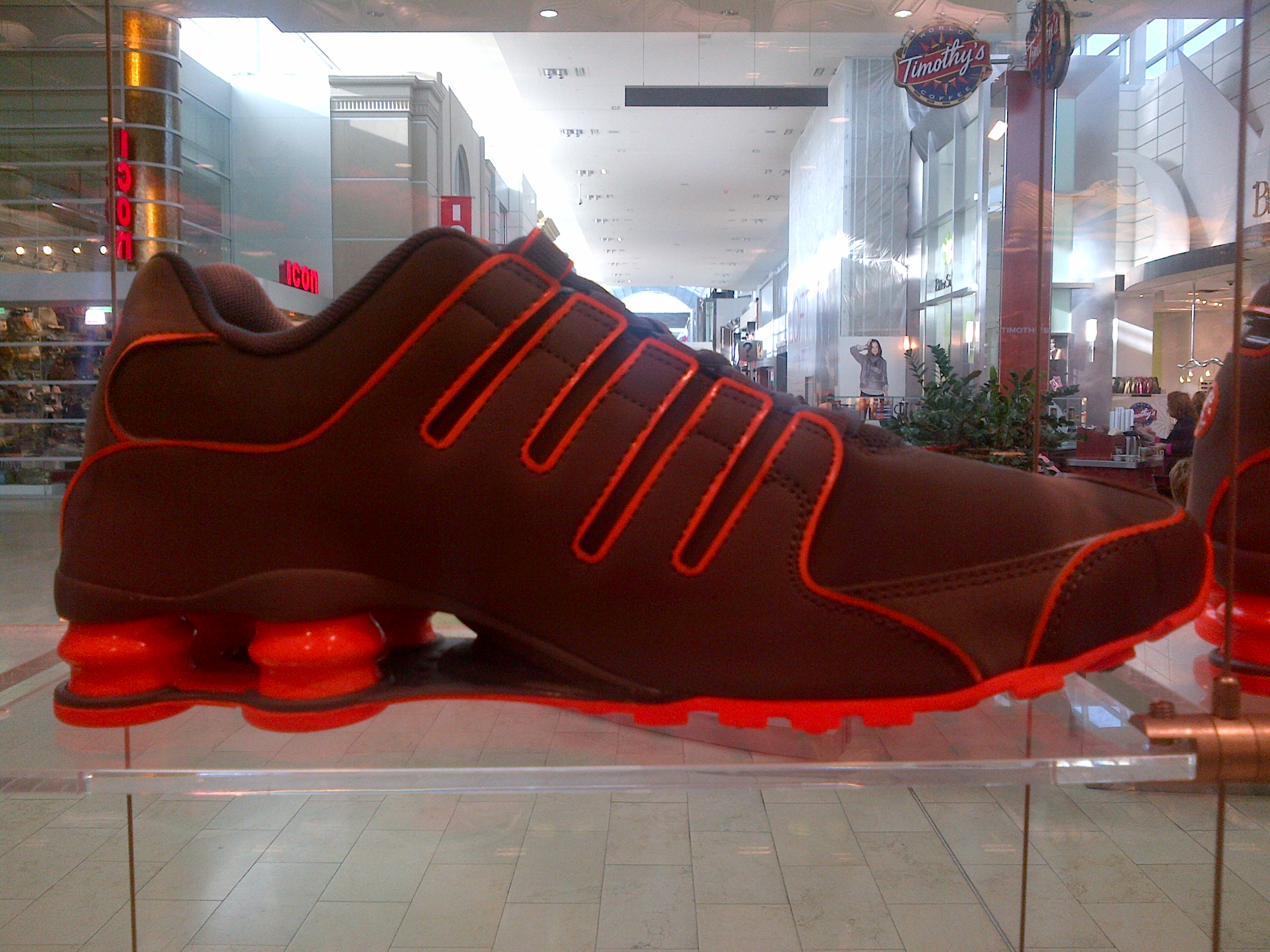 Nike Shox Grey And Orange