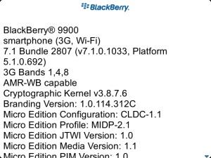Bold 9900 OS7.1.0.1033
