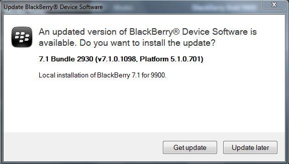 OS7 1 0 1098 for BlackBerry Bold 9900 via O2 UK [AllLang